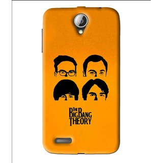 Snooky Printed Bigbang Mobile Back Cover For Lenovo A850 - Yellow