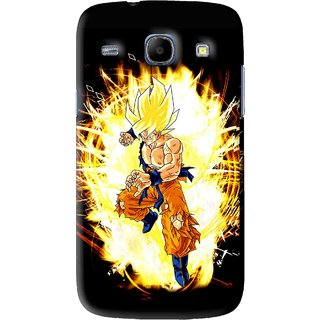 Snooky Printed Angry Man Mobile Back Cover For Samsung Galaxy 8262 - Black