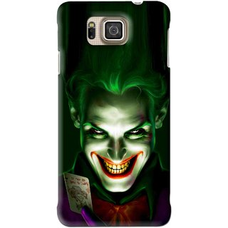 Snooky Printed Loughing Joker Mobile Back Cover For Samsung Galaxy Alpha - Green