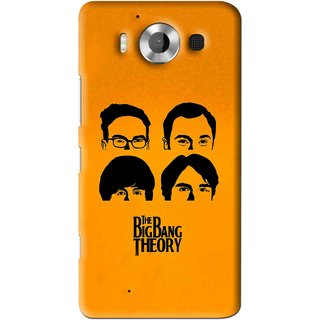Snooky Printed Bigbang Mobile Back Cover For Microsoft Lumia 950 - Yellow