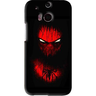 Snooky Printed Spider Eye Mobile Back Cover For HTC One M8 - Black