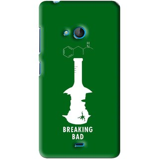 Snooky Printed Breaking Bad Mobile Back Cover For Microsoft Lumia 540 - Green