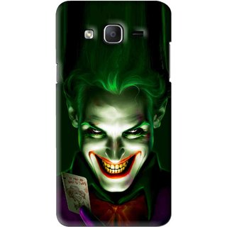 Snooky Printed Loughing Joker Mobile Back Cover For Samsung Galaxy On5 - Green