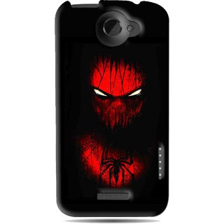 Snooky Printed Spider Eye Mobile Back Cover For HTC One X - Black