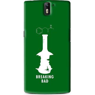 Snooky Printed Breaking Bad Mobile Back Cover For OnePlus One - Green
