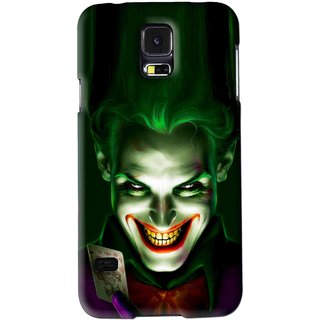 Snooky Printed Loughing Joker Mobile Back Cover For Samsung Galaxy S5 - Green