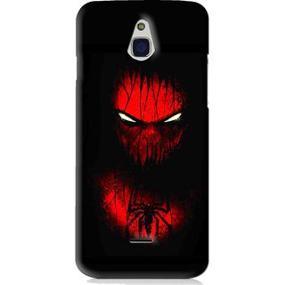 Snooky Printed Spider Eye Mobile Back Cover For Infocus M2 - Black