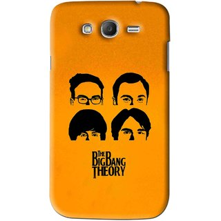 Snooky Printed Bigbang Mobile Back Cover For Samsung Galaxy Grand - Yellow