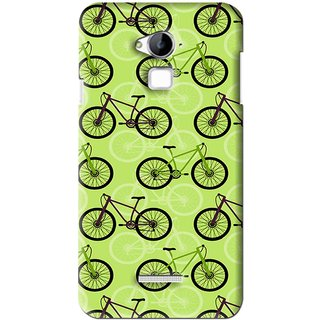 Snooky Printed Cycle Mobile Back Cover For Coolpad Dazen Note 3 - Green