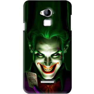 Snooky Printed Loughing Joker Mobile Back Cover For Coolpad Dazen Note 3 - Green