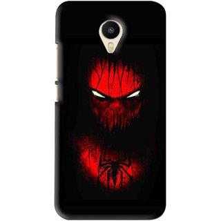 Snooky Printed Spider Eye Mobile Back Cover For Meizu M1 Metal - Black
