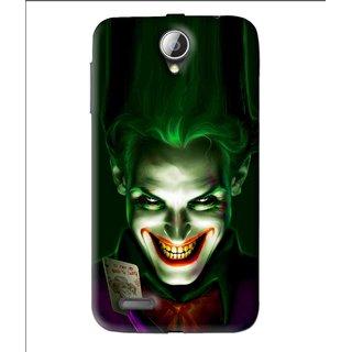 Snooky Printed Loughing Joker Mobile Back Cover For Lenovo A850 - Green