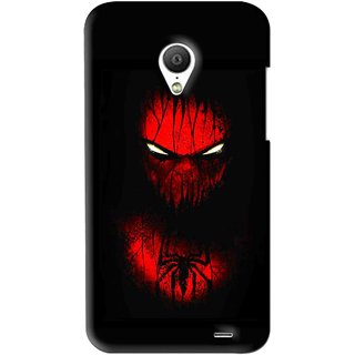Snooky Printed Spider Eye Mobile Back Cover For Meizu MX3 - Black