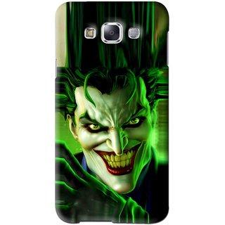 Snooky Printed Horror Wilian Mobile Back Cover For Samsung Galaxy E7 - Green