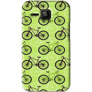 Snooky Printed Cycle Mobile Back Cover For Micromax Bolt S301 - Green