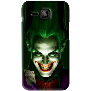 Snooky Printed Loughing Joker Mobile Back Cover For Micromax Bolt S301 - Green
