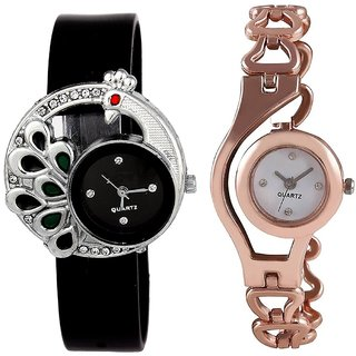 SP New and Latest Design Analog Watch For Women And Girls - Pack of 2
