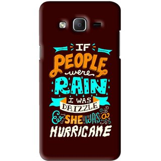 Snooky Printed Monsoon Mobile Back Cover For Samsung Galaxy On5 - Brown