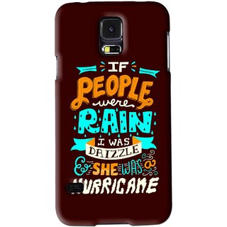 Snooky Printed Monsoon Mobile Back Cover For Samsung Galaxy S5 - Brown
