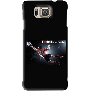 Snooky Printed Football Passion Mobile Back Cover For Samsung Galaxy Alpha - Black