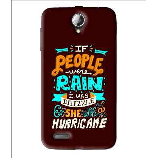 Snooky Printed Monsoon Mobile Back Cover For Lenovo A850 - Brown