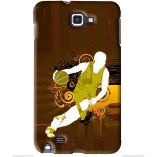 Snooky Printed Chamoins wins Mobile Back Cover For Samsung Galaxy Note 1 - Brown