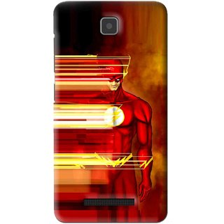 Snooky Printed Electric Man Mobile Back Cover For Lenovo A1900 - Red