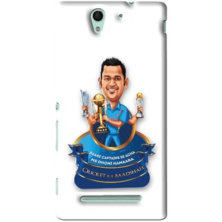 Snooky Printed Cricket Ka Badshah Mobile Back Cover For Sony Xperia C3 - White