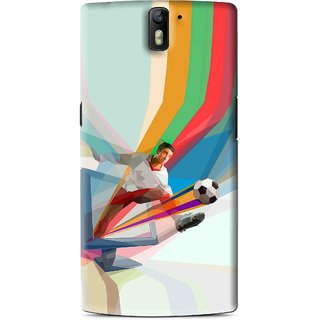 Snooky Printed Kick FootBall Mobile Back Cover For OnePlus One - Multi