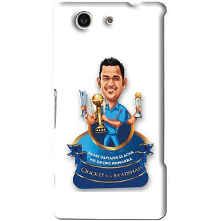 Snooky Printed Cricket Ka Badshah Mobile Back Cover For Sony Xperia Z4 Mini - White