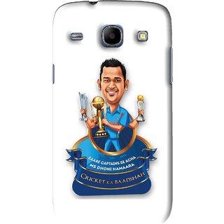 Snooky Printed Cricket Ka Badshah Mobile Back Cover For Samsung Galaxy 8262 - White