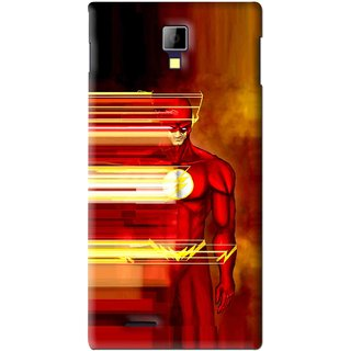 Snooky Printed Electric Man Mobile Back Cover For Micromax Canvas Xpress A99 - Red
