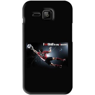 Snooky Printed Football Passion Mobile Back Cover For Micromax Bolt S301 - Black