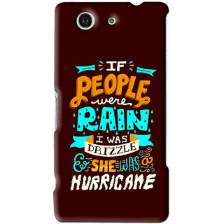 Snooky Printed Monsoon Mobile Back Cover For Sony Xperia Z4 Mini - Brown