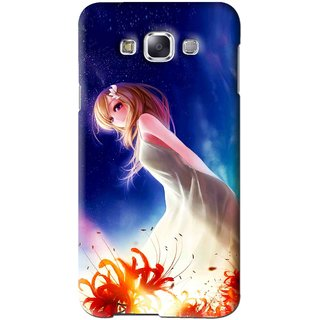 Snooky Printed Angel Girl Mobile Back Cover For Samsung Galaxy A5 - Blue