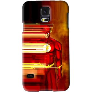 Snooky Printed Electric Man Mobile Back Cover For Samsung Galaxy S5 - Red