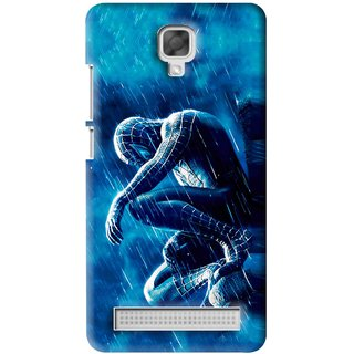Snooky Printed Blue Hero Mobile Back Cover For Micromax Bolt Q331 - Blue