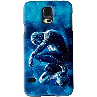 Snooky Printed Blue Hero Mobile Back Cover For Samsung Galaxy S5 - Blue