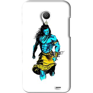 Snooky Printed Bhole Nath Mobile Back Cover For Meizu MX3 - White