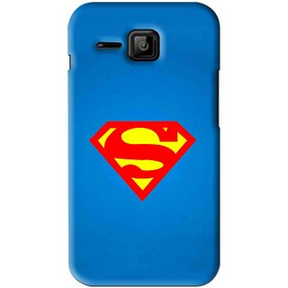 Snooky Printed Super Logo Mobile Back Cover For Micromax Bolt S301 - Blue