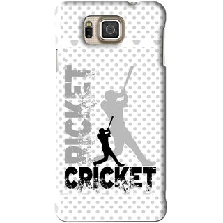 Snooky Printed Cricket Mobile Back Cover For Samsung Galaxy Alpha - White