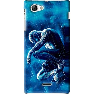 Snooky Printed Blue Hero Mobile Back Cover For Sony Xperia J - Blue