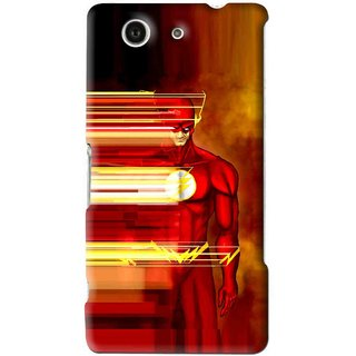 Snooky Printed Electric Man Mobile Back Cover For Sony Xperia Z4 Mini - Red