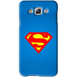Snooky Printed Super Logo Mobile Back Cover For Samsung Galaxy A5 - Blue
