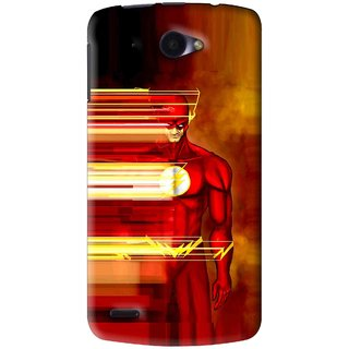 Snooky Printed Electric Man Mobile Back Cover For Lenovo S920 - Red