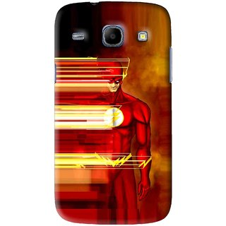 Snooky Printed Electric Man Mobile Back Cover For Samsung Galaxy 8262 - Red