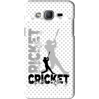 Snooky Printed Cricket Mobile Back Cover For Samsung Galaxy On5 - White