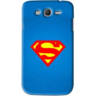 Snooky Printed Super Logo Mobile Back Cover For Samsung Galaxy Grand - Blue