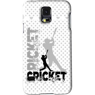 Snooky Printed Cricket Mobile Back Cover For Samsung Galaxy S5 - White