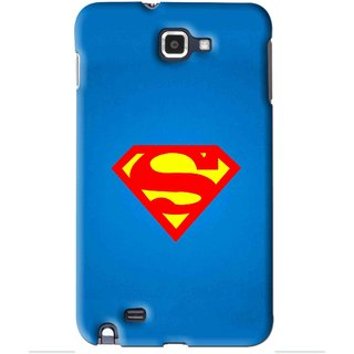 Snooky Printed Super Logo Mobile Back Cover For Samsung Galaxy Note 1 - Blue